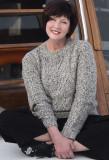 Joanna aboard Watermark, Aberdeen, Hong Kong