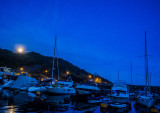 Moon rising in the Typhoon Shelter