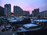 Peaceful Evening in the Typhoon Shelter