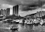 Thunder storm over the Typhoon Shelter