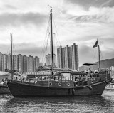 Sailing junk in the Typhoon Shelter