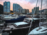 Sunset over the Typhoon Shelter