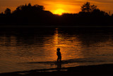 Playing till sunset