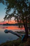 Lake Wahwashkesh sunrise