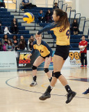 Queen's vs Royal Military College W-Volleyball 02-20-16