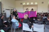 connect the AWE Aldermasten and Burghfield with a seven mile woollen pink scarf