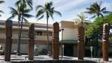 Hawaiian Totem Poles or Tiki statues (near army museum)