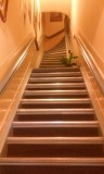 Steep stairs at our hotel!