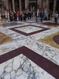 Beautiful marble floor, Pantheon