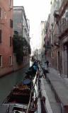 Side canal in Venice; plenty of gondolas, no waiting!