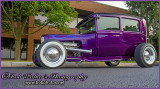 Purple Ford Street Rod