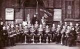 1935 - Burton Citadel Band in Festival Tunics taken outside Brook Street Hall