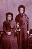 1897 - 2nd Lieut Emily Hallett (nee Mortlock) standing @ Leeds area