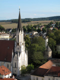 View of Melk from the Abbey