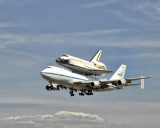 Endeavour Landing at LAX