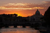 Sunset Over the Vatican River View