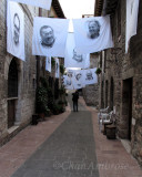 Art Draped Streets of Assisi