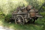 A Wagon Full of Chianti Fiasco Bottles
