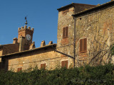 View of Clock Tower, Pienza