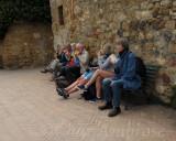 Lunch Break on Via Dell Amore, Pienza