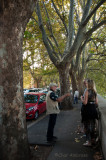 Walking along the Lungotevere in Rome