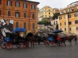 Hansom Cabs in Piazza di Spagna