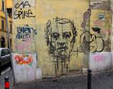 A Colorful Graffiti Wall in Monti
