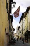 Street in San Quirico, Italy