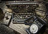 Typewriter and Phone