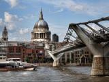 St Paul's & Millennium Bridge (colour)