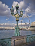 Lamp and London Eye