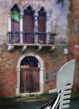 Green Venetian Blind