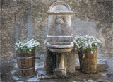 1855 Fountain and Flowers