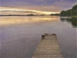 Sunset Lake & Pier - Finland