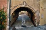 Bench through Arch