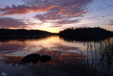 Coucher de soleil - Sunset on the lake