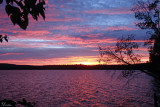 Coucher de soleil - Sunset on  Meacham Lake