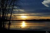 Coucher de soleil  sur la rivière - Sunset on the river