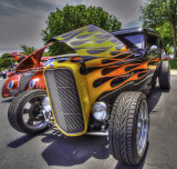 A Ford streetrod in HDR