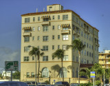 This photo of a building in South Miami Beach appeals to me but I'm not sure why. Processed as an HDR image.