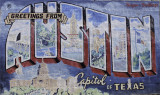 The postcard mural
