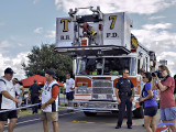 Firetruck pull for charity