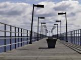 The fishing pier at Harbor Beach on Lake Huron.