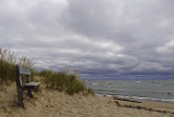 A beach scene on Lake Huron