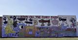 The Funky Farm mural in Muskegan, MI
