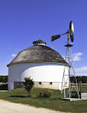 I photographed this round barn in Rochester, IN