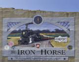 Logansport, IN Iron Horse mural (Circa 2004)