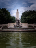 The UT Tower and reflecting pool