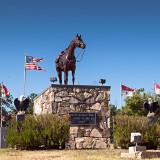Empty Saddle statue at Fort Clark, Brackettville, TX