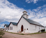 I found this very  nice white church in the ghost town of Shafter, TX